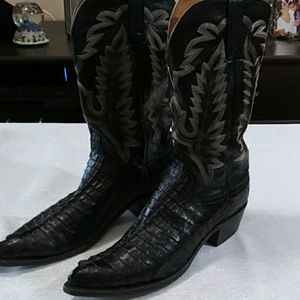 Other - Lucchese Crocodile Mens Boots black